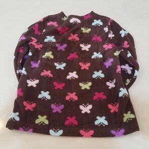 Shirts & Tops - 🦋Girls Brown Butterfly Fleece Pullover🦋